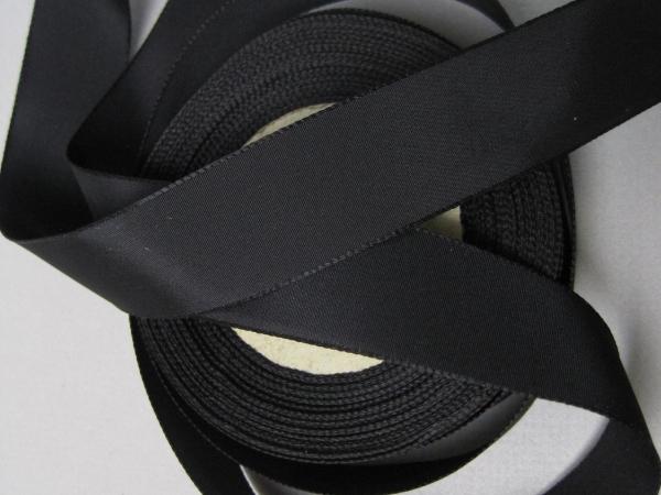 Black rayon faille ribbon