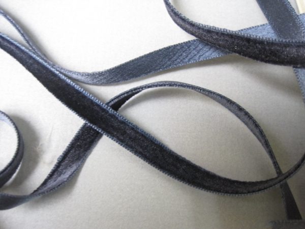 Navy blue velvet ribbon