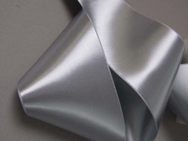 silver bridal ribbon