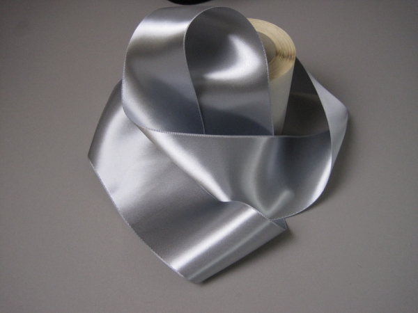 high sheen silver ribbon