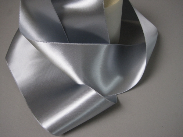 Three inch wide silver ribbon