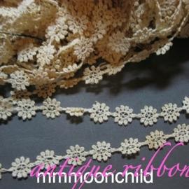 Antique lace flower applique