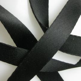 Black narrow satin ribbon