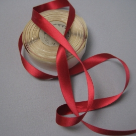 red fabric ribbon