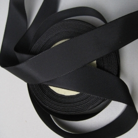 Black rayon faille ribbon