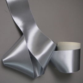 Silver gray ribbon