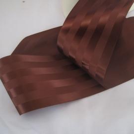 Wide brown striped ribbon