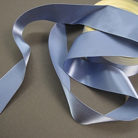 Vintage rayon satin blue ribbon