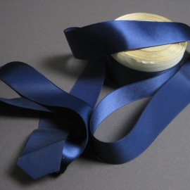 Navy blue rayon ribbon
