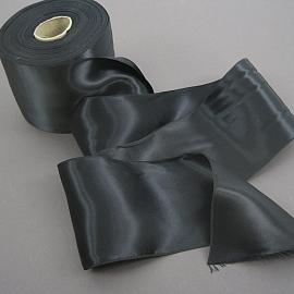 Vintage wide black ribbon
