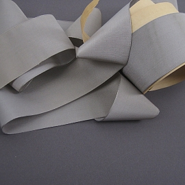 Gray silk faille ribbon