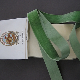 Vintage 20s silk cotton velvet ribbon