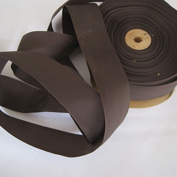 Vintage 50s Gray brown faille ribbon trim for millinery fabric ribbon sewing ribbon 1-1/2 inch wide