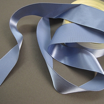 Vintage 30s Slate blue rayon satin ribbon 1 inch wide