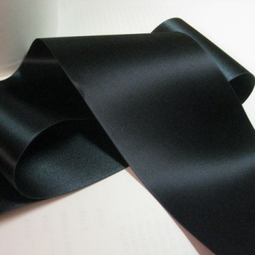 Vintage 50s Navy blue double sided satin ribbon trim Fabric ribbon rayon acetate 3 inch wide