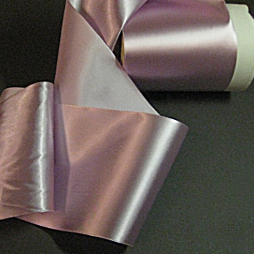 Vintage 30s Wide Pink ribbon rayon satin Fabric Orchid pink 5 inch
